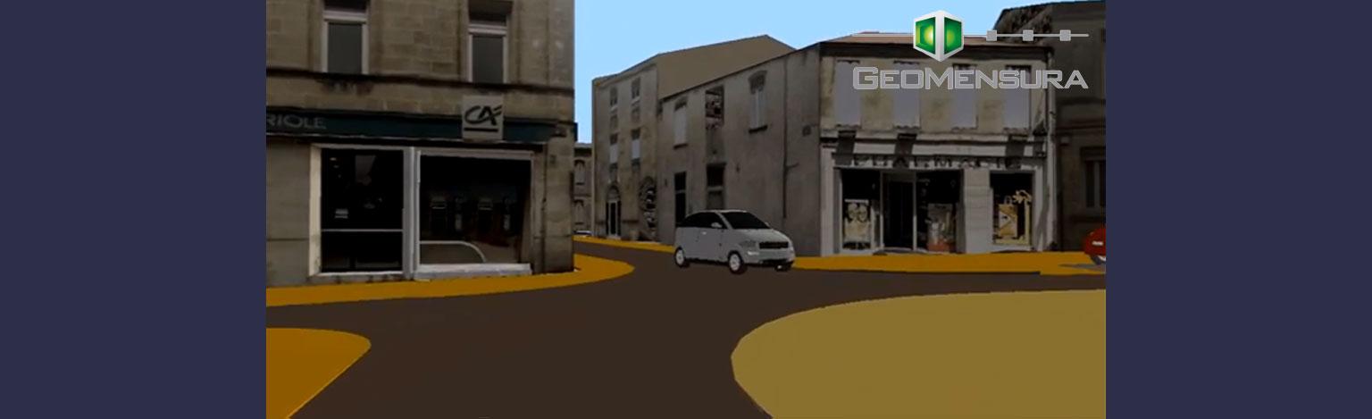 CETAB réalise sa première vidéo et maquette numérique 3D simulant une opération d'aménagement avec son logiciel dédié infrastructure MENSURA.